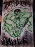Hulk sketch commish by DamageArts