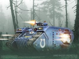 Land Raider Prometeus by ranin