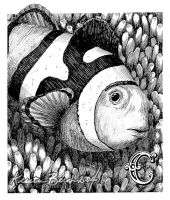 Pen and Ink Fishy by KrisCynical