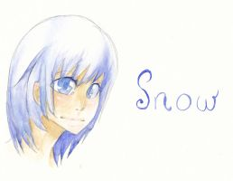 Snow - First Try Water Colour by x-Tsuka-x