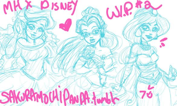 MH: WIP Disney Princess Revisited 2 by I-heart-Link