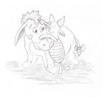 Eeyore and Piglet by caitiedidd