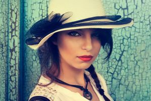 The Girl With The White Hat by DreamingMyReality