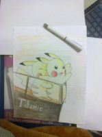 Pikachu on Titanic by AbirAhmed