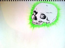 Green Skull by Pe2te2r