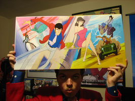 The Inside of the original Lupin vinyl record by FilmmakerJ