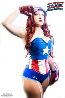 Captain America: Pin up by aqueenwithnocrown
