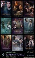 SPN - Dean and Castiel (Mobile Wallpapers) by lilyanjudyth