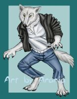 Wolf's Rain Anthro Kiba by arania