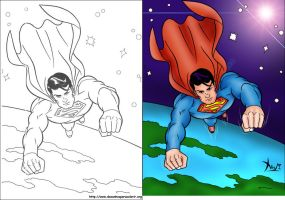 Pintura Digital - Super Man by felipexavier