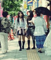 students in tokyo by drex1975