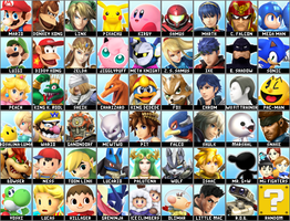 Super Smash Bros. 4 Dream Roster v2 (Realistic) by Lucas-Zero