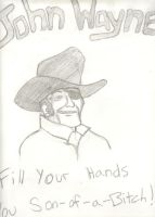 Rooster Cogburn, John Wayne by CaptainStonebelly