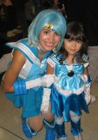 Sailor Mercury with Chibi by StephanieYanez