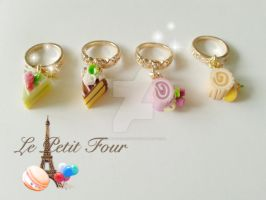 Slice cake dangel Ring by AngelicLight100