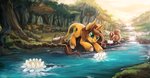Commission 17 - Autumn Oak by The-Keyblade-Pony