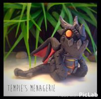 Polymer clay Deathwing dragon World of Warcraft by TempiesMenagerie