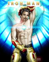 Sexy Iron Man (Tony Stark) by Steven-H-Garcia