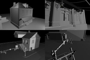 WWII town WiP by ShangyneX