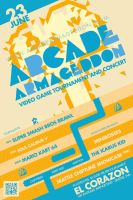 ARCADE ARMAGEDDON Flyer Design by GoshaDole