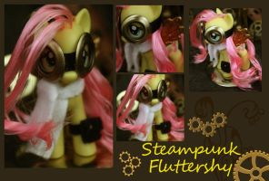 Fluttershy Steampunk Figure by bluepaws21