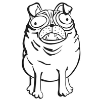 05-15-09 Pug by mongreldesigns