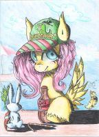 Fluttershy made with pencil by ChibiWendy