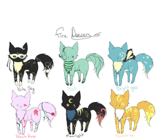 Fire Dancers Adoptables 1 ALL BUT ONE SOLD by chuguri
