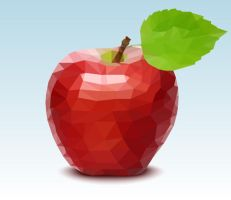 Polygonal Vector Apple by lazunov