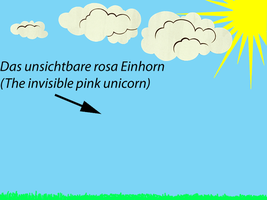 The invisible pink unicorn by 2Crazy4Nick
