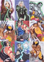 Marvel Universe 2011 sketch cards X-Men guys by JoeOiii