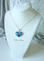 Heart Piece Pendant Necklace #16 ZELDA Custom by TorresDesigns