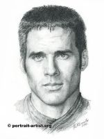 Portrait of Ben Browder by bearsclover