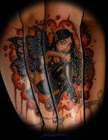Goth Fairy Tattoo by MuddyGreen