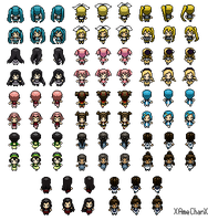 Female Characters- Pokemon Sprites by xAmeChanx