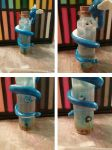 Dragonair Wrapped Pokemon resin bottle by ShadyDarkGirl