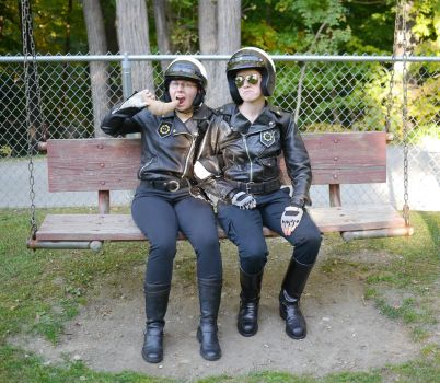 Cop Bros at the Park by Lithe-Fider