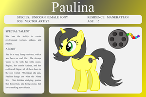 MLP OC Bio Sheet - Paulina by outlaw4rc