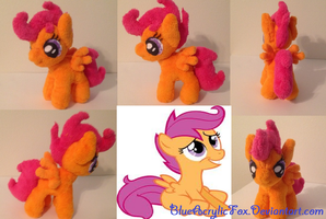 Scootaloo mlp plushie by BlueAcrylicFox