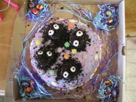 Soot sprite cake - top view by Patchwork-Hoodie