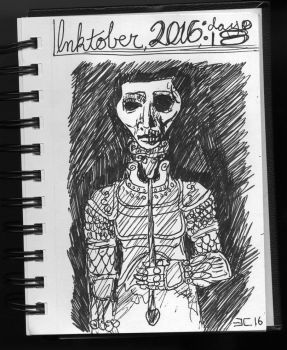 Inktober the 18th: Mysterious Stranger by elenorec