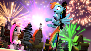 Rainbow Colored Fireworks by d0ntst0pme