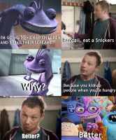 Randall Boggs Snickers meme by Toxic-dolls