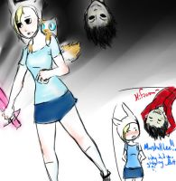 Fionna and Mr. Lee AT by birdswii