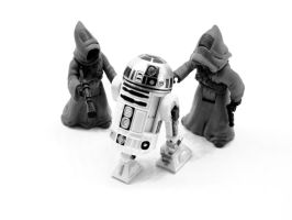 Mini R2D2 and Jawas by theCrow65