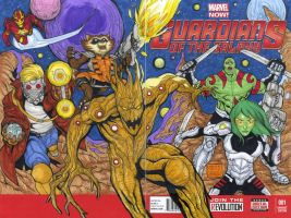 Guardians of the Galaxy blank cover art by mdavidct