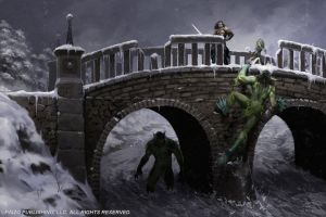 Troll Bridge by Akeiron