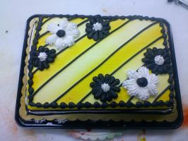 Black Yellow and White Daisies by Transformergirl