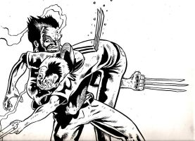 wolvie stabbing a guy by davechisholm