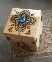 Blue Gem Henna Box by flowerwills